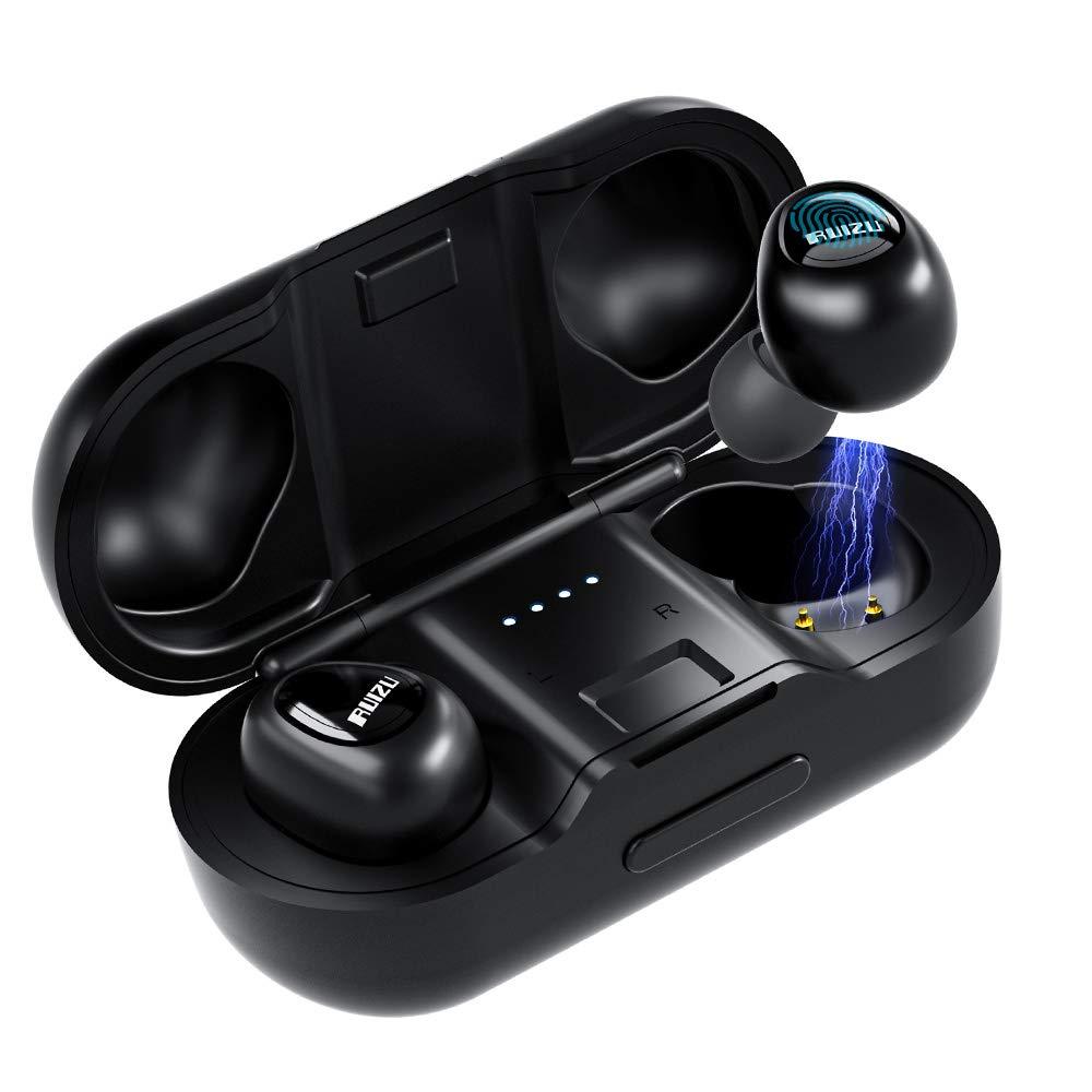 True Wireless Earbuds Tws Stereo Wireless Headphones Bluetooth 5 0 In Ear Headset With Strong Connection Noise Cancelling Mini Earphones Charging Case Ipx5 Waterproof 58h Playtime Sports Earpiece Ruizu Mp3 Player Sports Mp3 Player